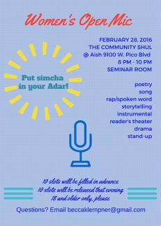 Women's Open Mic FEB 2016